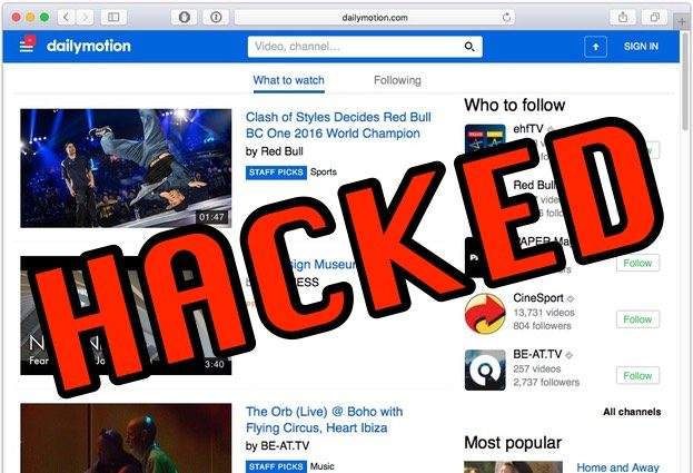 Dailymotion admits hack exposed millions of accounts